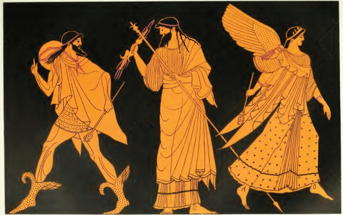 Zeus sending forth Hermes and Iris